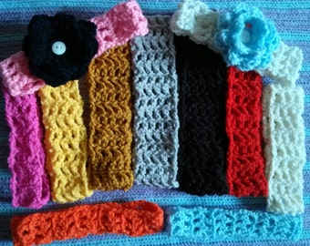 Crochet Headbands  option w/ no flower