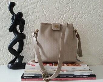 Vintage Liz Claiborne Shoulder Bag - Beige