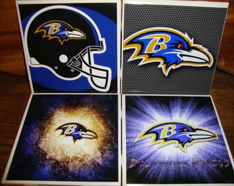 Baltimore Ravens Coasters (set of 4)