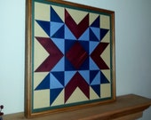 All Handmade Wood Mosaic Barn Quilt Wall Hanging Country Rustic primitive folk art