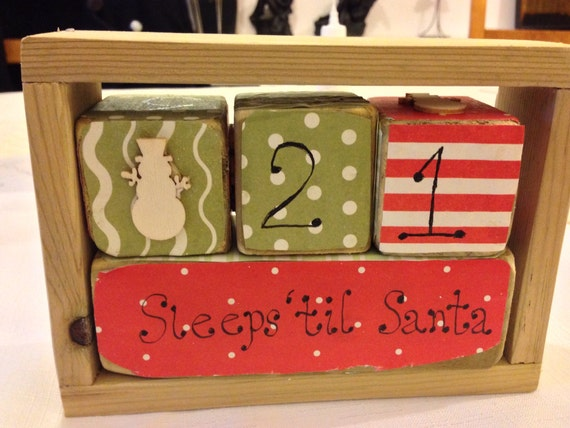 Wooden Advent calendar blocks