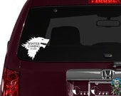 Game of Thrones inspired Stark Sigil Car Decal - Car Decal, Laptop Decals, etc...