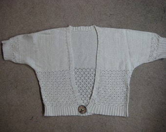 Merino and Cotton Shrug (Price reduced from NZD100.00)
