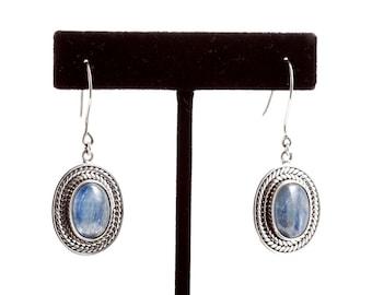Kyanite 126 - Earrings - Sterling Silver & Kyanite