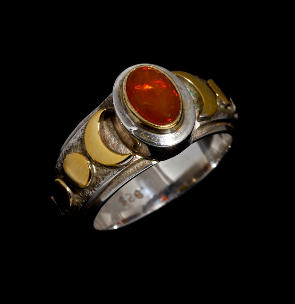 Mexican Fire Opal Engagement Rings