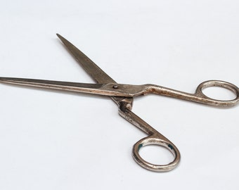 Vintage metal scissors made at 60s. USSR