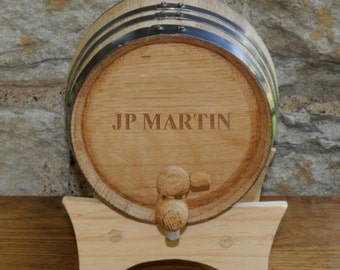 Personalized 2 Liter Whiskey Barrel - Monogrammed Whiskey Barrel - Groomsmen Gifts - Groomsmen Gift idea - GC1028