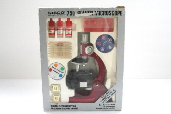 Vintage Tasco Microscope 750 Power 1984 in Original Box