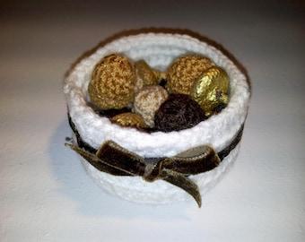Decobasket- Autumn- handmade- crochet - 10100