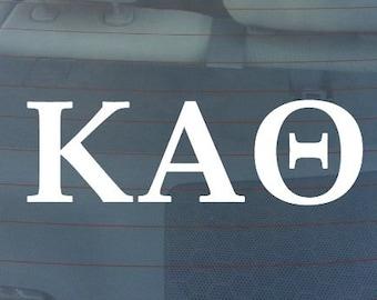 "KAPPA ALPHA THETA Sorority Sticker Window Laptop Car Decal Vinyl Ipad Iphone 3"" 6"" 8"""