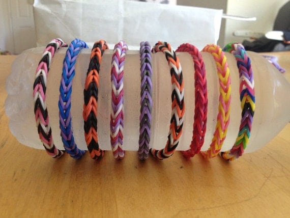Items Similar To Fishtail Rainbow Loom Bracelet On Etsy