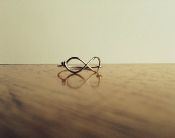 Thin Infinity Silver Ring Wire Jewellery