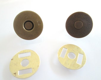 5 Sets 18mm anti brass Magnetic Fastener Magnetic Snaps Magnetic Button