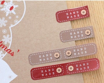 """60 Labels Stickers """"Handmade"""" two colors to choose"""