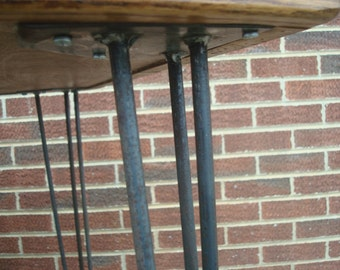 "3-Rod Hairpin Legs, 12"" to 18 "" high bench and table legs"
