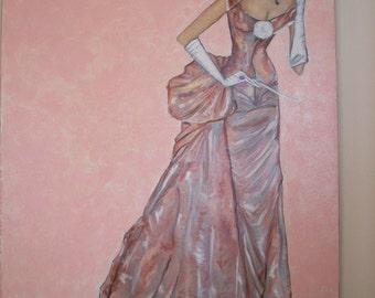 "Painting ""Anouk"". Mixed media, 100 x 70, tribute to Ashley, 2011"