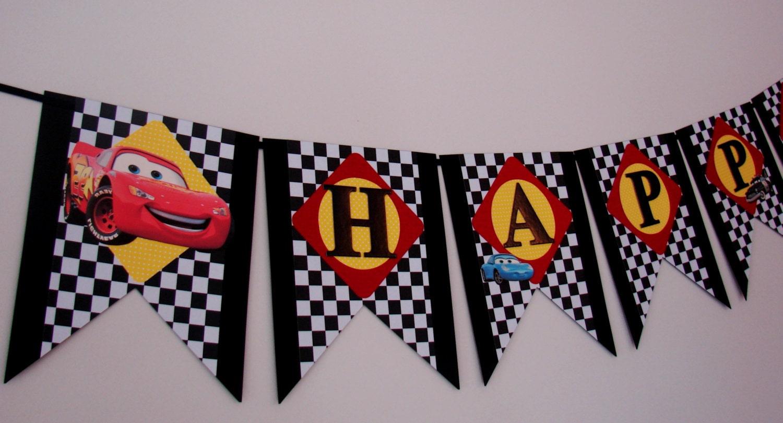 Disney Cars Birthday Banner Cars Birthday Banner Mcqueen