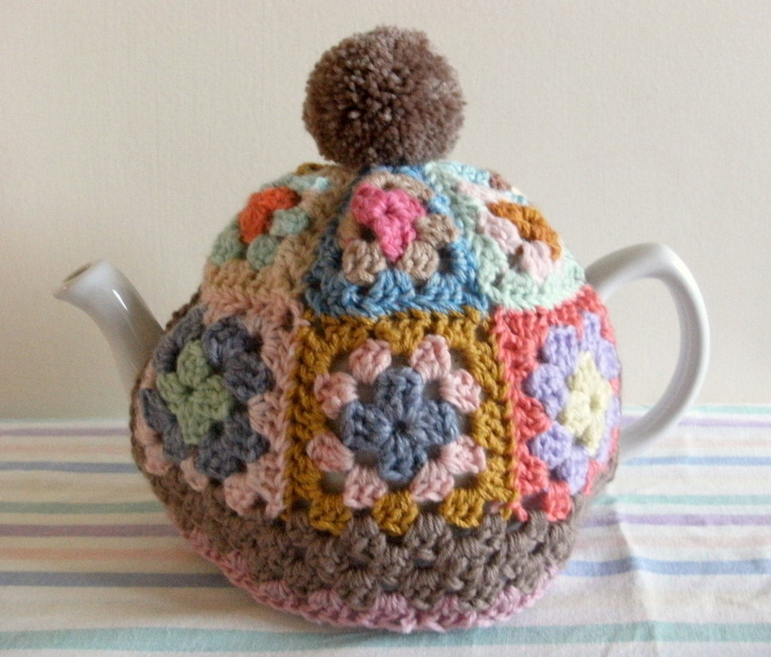 Granny square tea cosy pattern tutorial pdf file instant for Tea cosy template