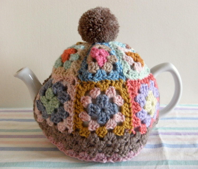 Granny square tea cosy pattern tutorial pdf file instant for Tea cosy template