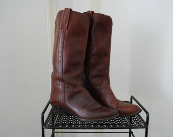 Brown leather 'Maine Woods' boots