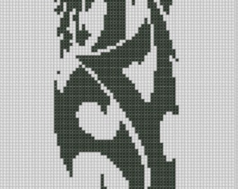 Two Dragons Cross Stitch Pattern