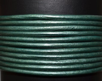 Teal - 1.5mm Leather Cord per yard