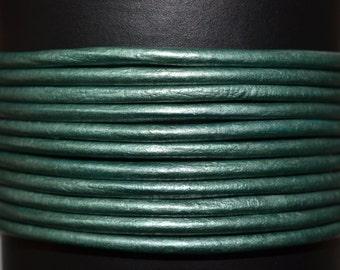 Teal - 1.5mm Leather Cord per yard