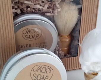 Shaving Soap and Natural Boar Brush -- Jack's Soap