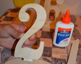 ON SALE - Wedding Table Number Kit - DIY Wood wooden Numbers - Craft, price per Number