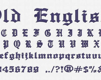 Old English Font Embroidery Design Now Come with .BX Ready Font!
