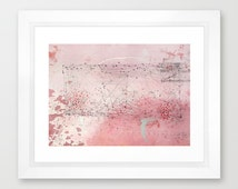 """Pink drawing. Apstract blue hairlines. Pencils and silver draving. Apstract decorative drawing print file. """"calculations"""". Digital file."""