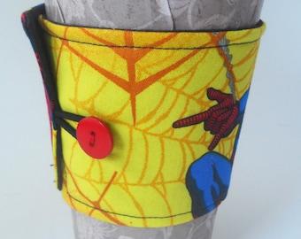 Reusable Spiderman Coffee Cozy