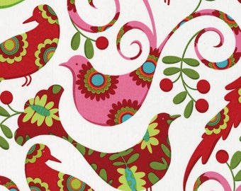 """Half Yard Pillow and Maxfield Designer Fabric 18""""x45"""", Pretty bird fabric/ Designer fabric/ Quilting fabric/ Cotton clothing/ Accessories"""
