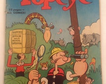 Vintage Dell Comic Book - Popeye African Wild Animal Expedition - 1951