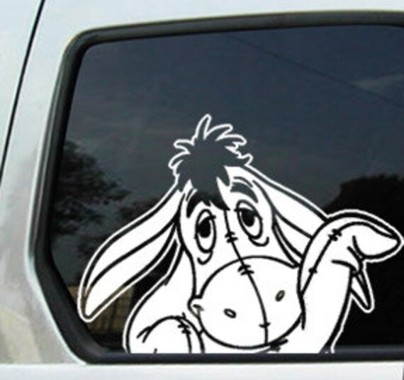 Decal Sticker Car Window Wave Eeyore Donkey By