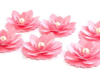 1 Dozen Handmade Paper Flowers - Your Choice of Color