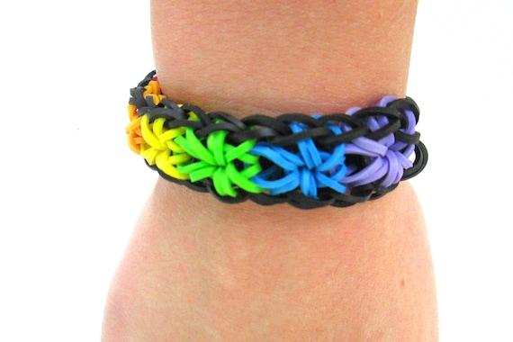 Items Similar To Rainbow Loom Starburst Rainbow Rubber