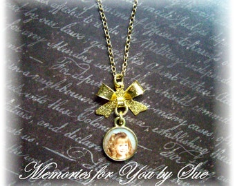 Sympathy Gift-Personalized Necklace-Photo Gifts-Photo Pendant Necklace-Custom Photo Pendant-Pet Memorial Necklace-Gold Photo Charm Necklace