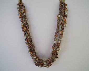 Caramel  Ladder Trellis Necklace