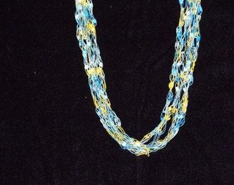 Summer Splash Ladder Trellis Yarn Necklace