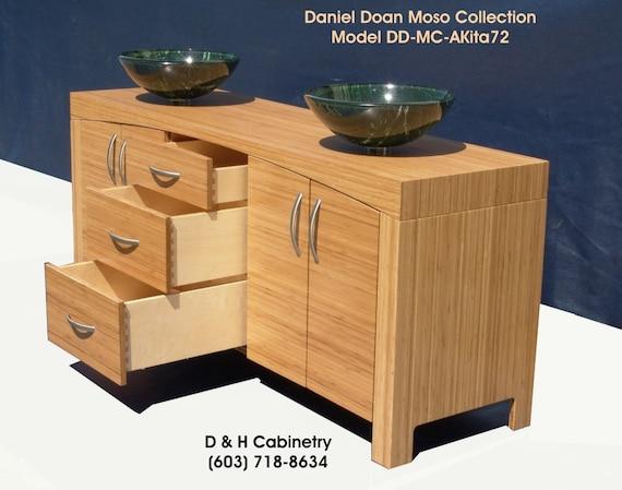 72 Modern Bamboo Bathroom Vanity Rancho Santa By Dandhcabinetry