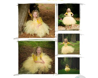 My Beautiful Belle Costume Set (includes dress, chunky necklace, and hairpiece)