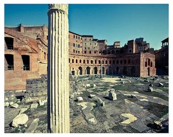 Roman ruins of The Foro Di Traiano, Rome, Italy
