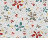 Around Town Flower print in gray, 100% cotton quilting fabric by Whimsicals for Red Rooster Fabrics -