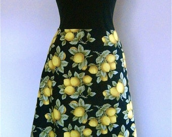 SALE Classic Flippy Skirt in Lemon Grove fabric, from Bird of Paradise Clothing. NOW 40% OFF