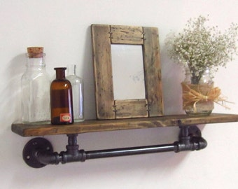 The Alison Industrial Pipe Shelf