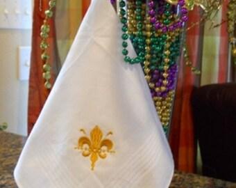 Second Line Handkerchief //  Wedding Handkerchief // New Orleans Handkerchief //Wedding Favor