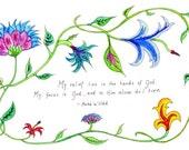Bahai Card -- Relief