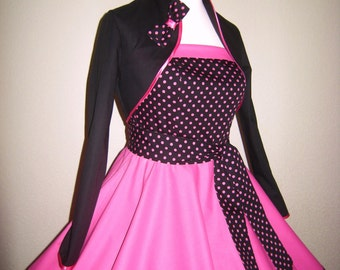 Bolero to the petticoat dress-Pink Lady
