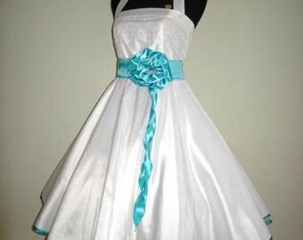 Wedding dress, Rockabilly wedding dress, wedding dress, made to measure, Sophie, turquoise, wedding dress,.